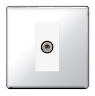 BG Nexus Polished Chrome Screwless Satellite Socket FPC64W