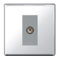 BG Nexus Polished Chrome Screwless Satellite Socket FPC64G