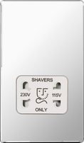 BG Nexus Polished Chrome Screwless Shaver Socket FPC20W