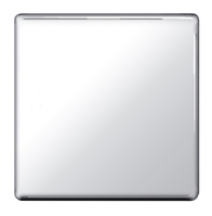 BG Nexus Polished Chrome Screwless Single Blank Plate FPC94