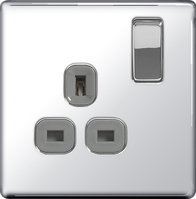 BG Nexus Polished Chrome Screwless Single Socket FPC21G