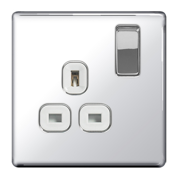 BG Nexus Polished Chrome Screwless Single Socket FPC21W