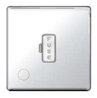 BG Nexus Polished Chrome Screwless Unswitched Fused Connection Unit Flex Outlet FPC55