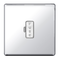 BG Nexus Polished Chrome Screwless Unswitched Fused Connection Unit FPC54