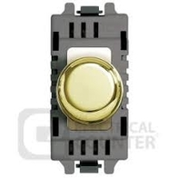 BG Polished Brass Grid Dimmer Switch GPBD400