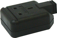 BG Rubber Extension Socket Heavy Duty Single Black ELS13B