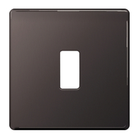 BG Screwless Flat Plate Black Nickel Grid Plate GFBN1