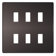 BG Screwless Flat Plate Black Nickel Grid Plate GFBN6