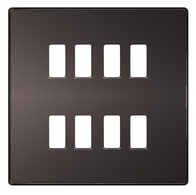 BG Screwless Flat Plate Black Nickel Grid Plate GFBN8