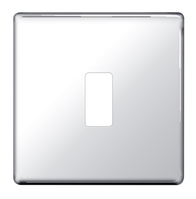 BG Screwless Flat Plate Polished Chrome Grid Plate GFPC1
