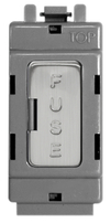 BG Brushed Steel Grid 13 Amp Fuse Carrier GBSFUSE