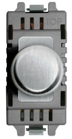 BG Brushed Steel Grid Dimmer Switch GBSD400LED