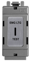 BG Brushed Steel Grid Switch 20 Amp 2 Way Key Switch GBS12EL