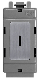 BG Brushed Steel Grid Switch 20 Amp Double Pole Key Switch GBS30KY