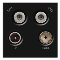 BG TV Radio & Dual Satellite Euro Module Black EMTVFMSAT2B