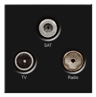 BG TV Radio & Satellite Euro Module Black EMTVFMSATB