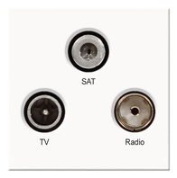 BG TV Radio & Satellite Euro Module White EMTVFMSATW