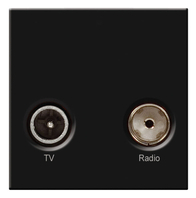 BG TV & Satellite Euro Module Black EMTVSATB
