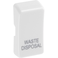 BG White Moulded Grid New Style Printed Waste Disposal Rocker RRWDISW