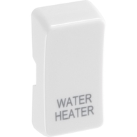 BG White Moulded Grid New Style Printed Water Heater Rocker RRWHW
