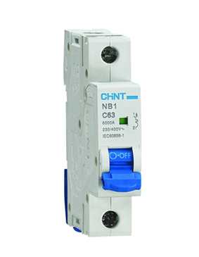 Chint 50A Single Pole 6KA B Type MCB NB1-63B1P50