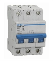 Chint 6A Triple Pole 6KA C Type MCB NB1-63C3P06