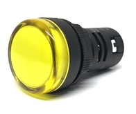 Chint Indicator Panel Lamp 22.5mm Multi Chip LED AC/DC Yellow ND16YELLOW