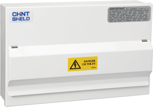 Chint Metal Consumer NX3-16RA 10way with 8 Breakers