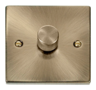Scolmore Click Deco Antique Brass Dimmer 1 Gang 400W VPAB140