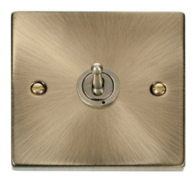 Scolmore Click Deco Antique Brass Toggle Switch 1 Gang 2Way VPAB421