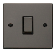 Scolmore Click Deco Black Nickel Ingot Intermediate Switch VPBN425BK