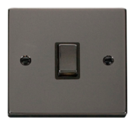 Scolmore Click Deco Black Nickel Ingot 20A DP Switch VPBN722BK