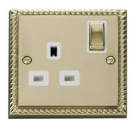Scolmore Click Deco Georgian Style Ingot Single Socket GCBR535