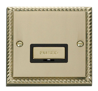 Scolmore Click Deco Georgian Style Ingot Unswitched Spur GCBR750BK