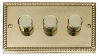 Scolmore Click Deco Georgian Style Dimmer 3 Gang 400W GCBR153