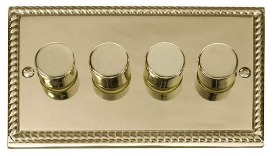 Scolmore Click Deco Georgian Style Dimmer 4 Gang 400W GCBR154