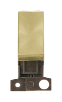 Click Deco Minigrid Satin Brass Intermediate Ingot Switch Module MD028SB