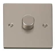 Click Deco Pearl Nickel 1 Gang 2Way Dimmer VPPN140
