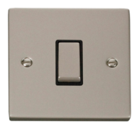 Click Deco Pearl Nickel 1 Gang 2Way Switch VPPN411BK