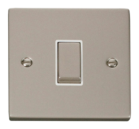 Click Deco Pearl Nickel 1 Gang 2Way Switch VPPN411