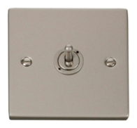 Click Deco Pearl Nickel 1 Gang 2Way Toggle Switch VPPN421