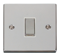 Scolmore Click Deco Polished Chrome Ingot Light Switch 1 Gang 2Way VPCH411