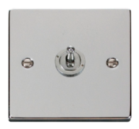 Scolmore Click Deco polished Chrome Toggle Switch 1 Gang 2Way VPCH421