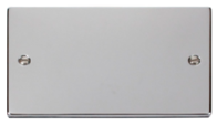 Scolmore Click Deco polished Chrome Double Blank Plate VPCH061