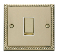 Scolmore Click Deco Georgian Style Ingot Light Switch 1 Gang 2Way GCBR411