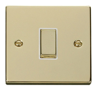 Scolmore Click Deco Polished Brass Ingot Light Switch 1 Gang 2Way VPBR411
