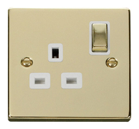 Scolmore Click Deco Polished Brass Ingot Single Socket VPBR535