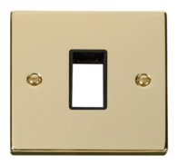 Click Deco Polished Brass 1G Aperture Single Plate VPBR401