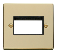Click Deco Polished Brass 1G Triple Aperture Plate VPBR403