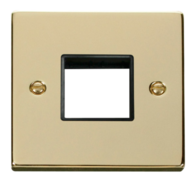Click Deco Polished Brass 1G Twin Aperture Plate VPBR402